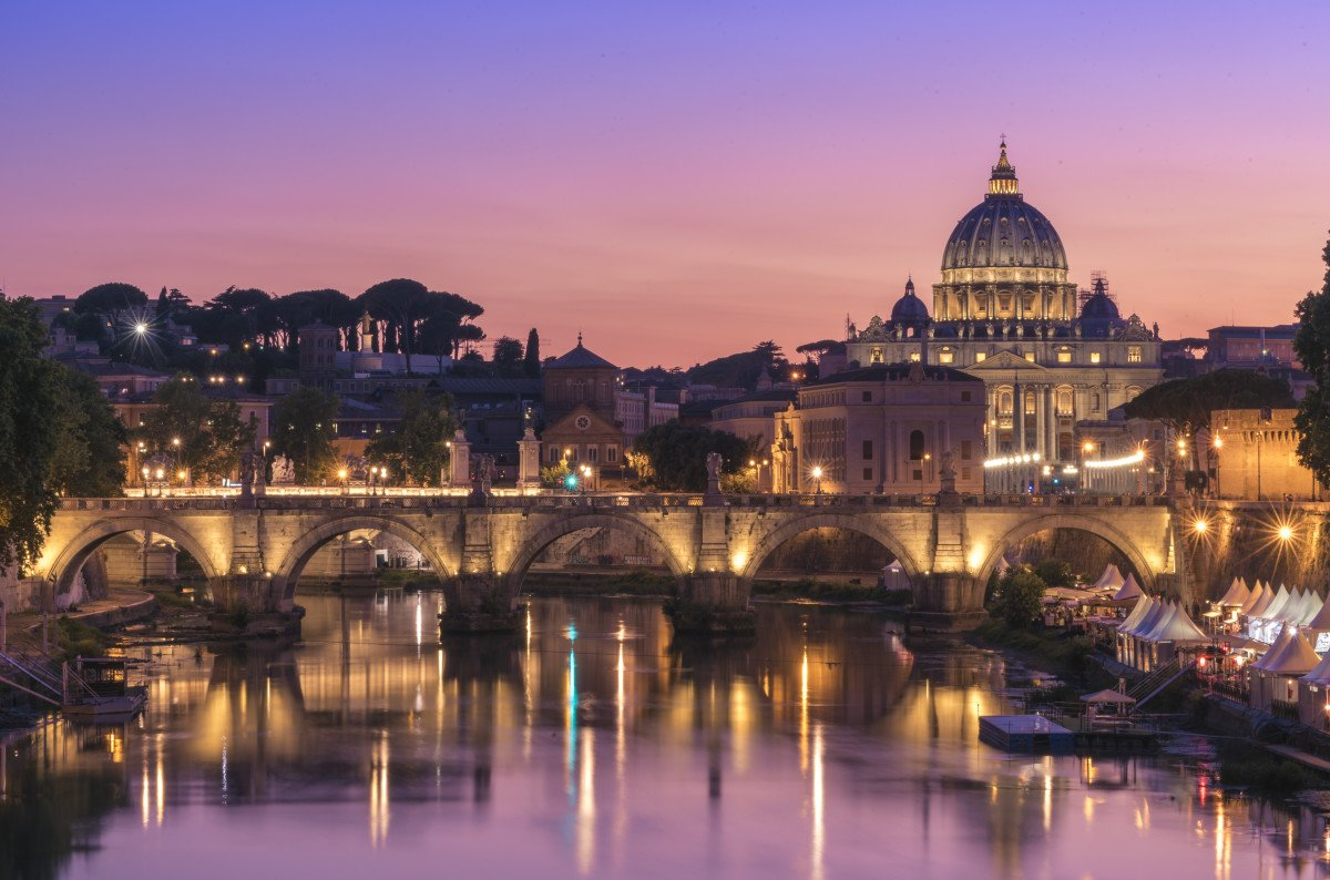 Sunset at the Vatican, Rome